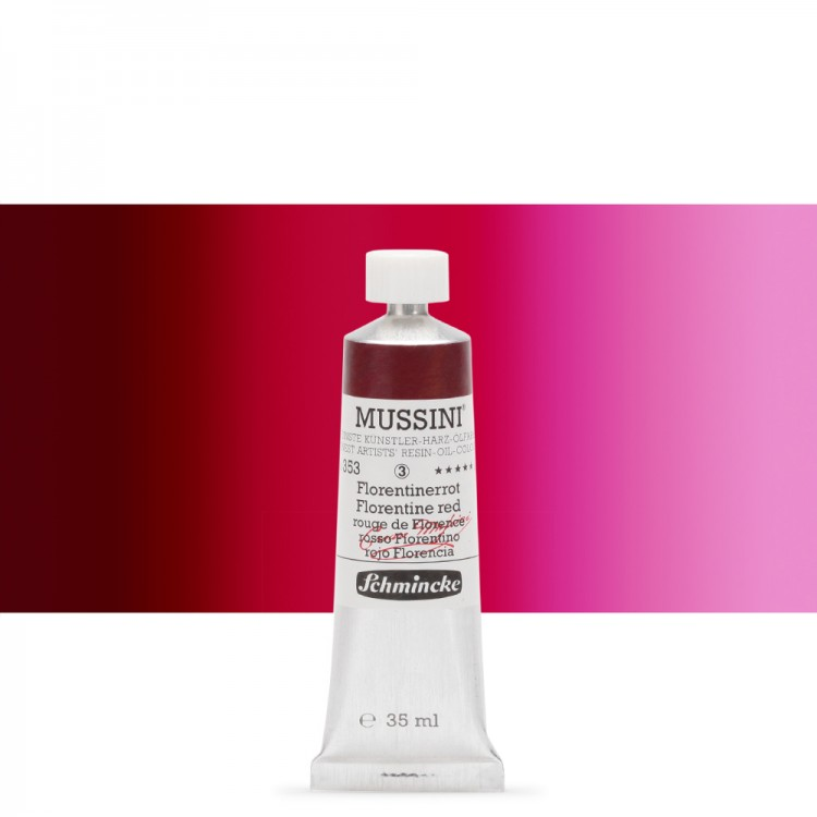Schmincke : Mussini Oil Paint : 35ml : Florentine Red