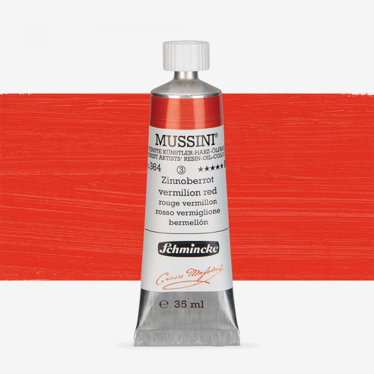 Schmincke : Mussini Oil Paint : 35ml : Vermilion Red Tone