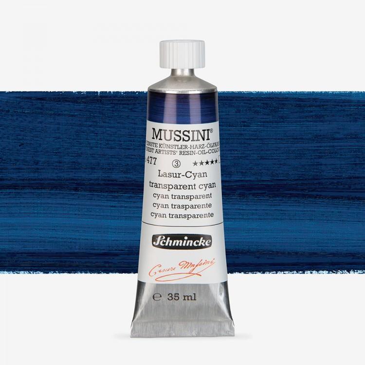 Schmincke : Mussini Oil Paint : 35ml : Translucent Cyan