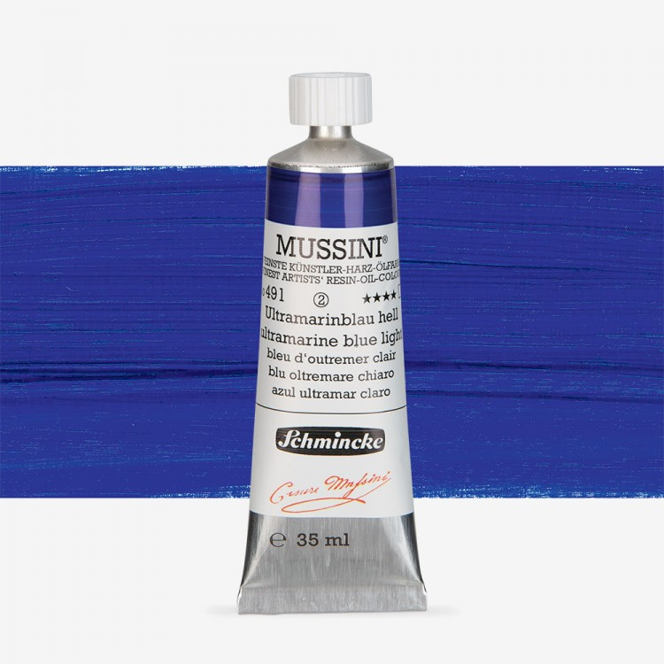 Schmincke : Mussini Oil Paint : 35ml : Ultramarine Blue Light