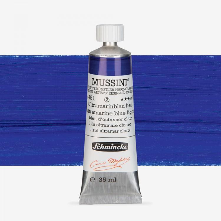 Schmincke : Mussini Oil Paint : 35ml : Ultramarine Blue Light