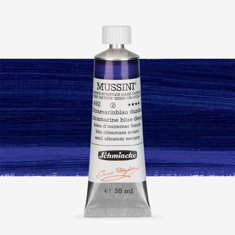 Schmincke : Mussini Oil Paint : 35ml : Ultramarine Blue Deep