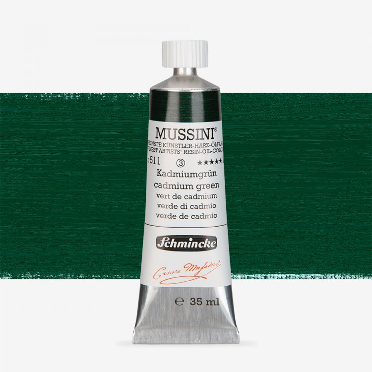 Schmincke : Mussini Oil Paint : 35ml : Chrome Green Deep Tone