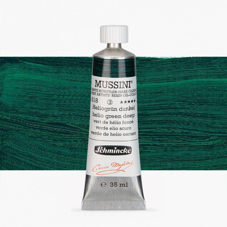 Schmincke : Mussini Oil Paint : 35ml : Helio Green Deep
