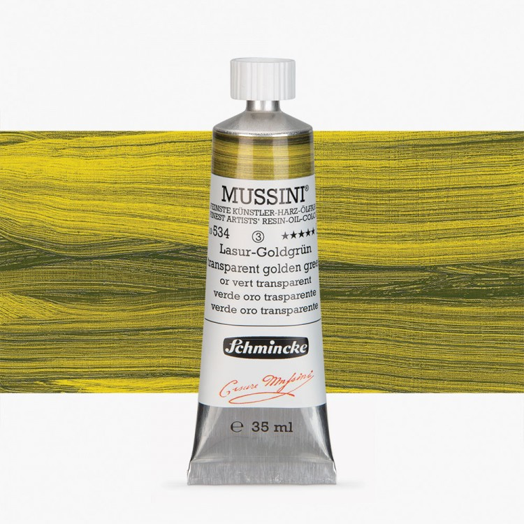 Schmincke : Mussini Oil Paint : 35ml : Translucent Golden Green