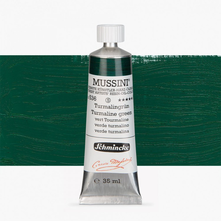 Schmincke : Mussini Oil Paint : 35ml : Tourmaline Green