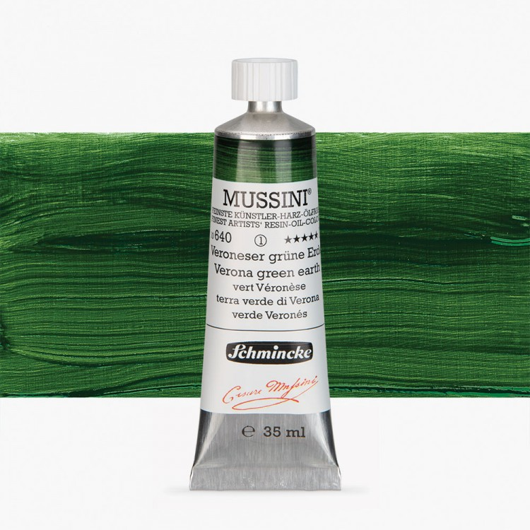 Schmincke : Mussini Oil Paint : 35ml : Verona Green Earth