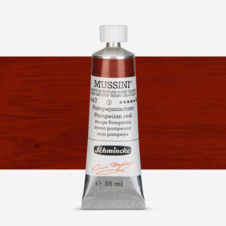 Schmincke : Mussini Oil Paint : 35ml : Pompeiian Red