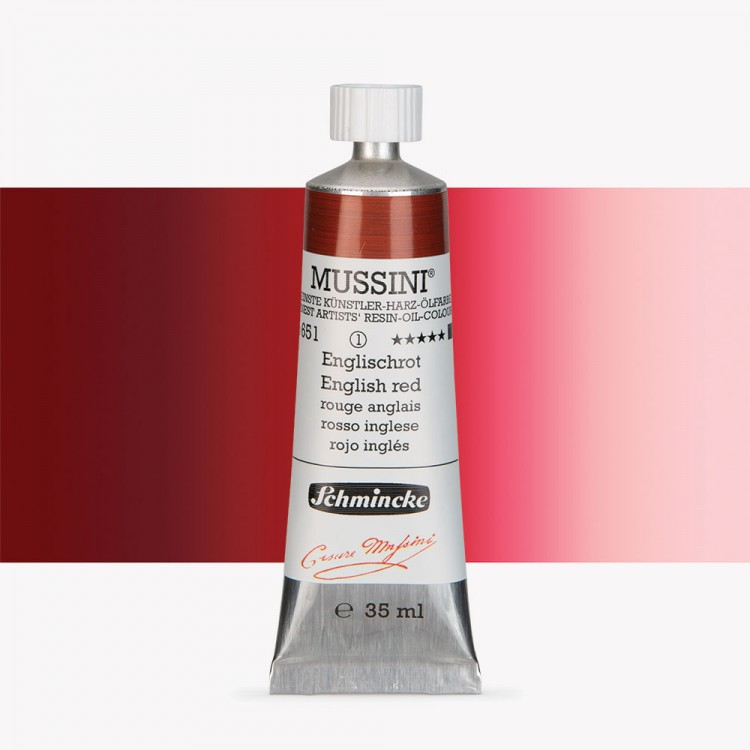 Schmincke : Mussini Oil Paint : 35ml : English Red