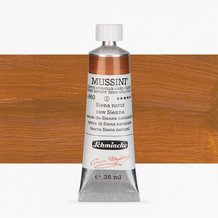 Schmincke : Mussini Oil Paint : 35ml : Raw Sienna