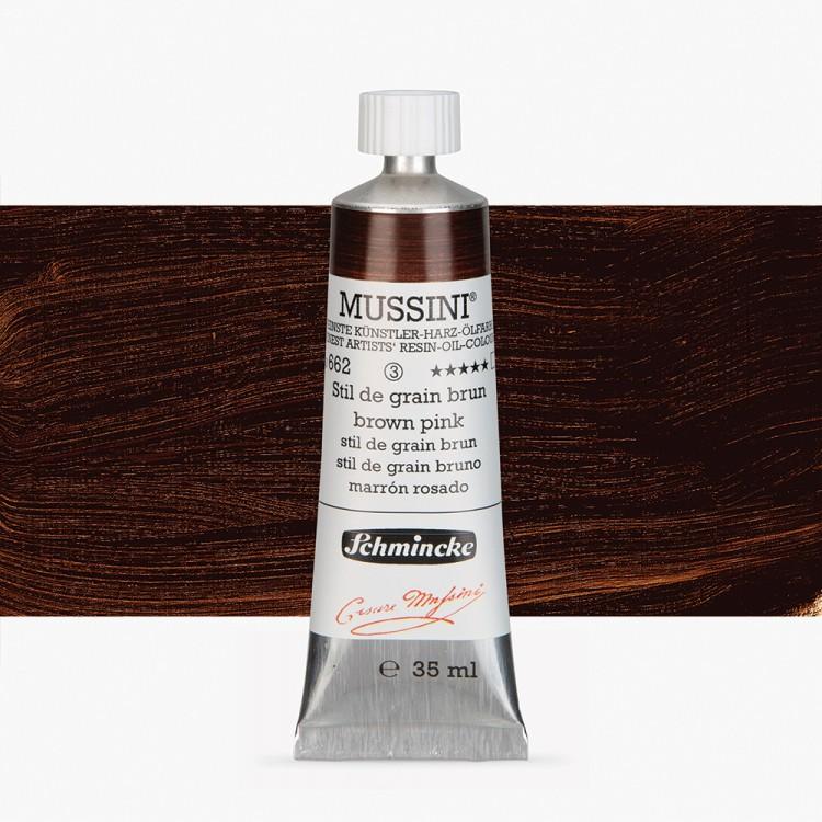 Schmincke : Mussini Oil Paint : 35ml : Brown Pink