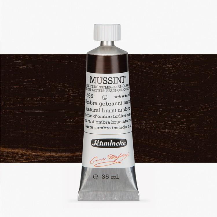 Schmincke : Mussini Oil Paint : 35ml : Natural Burnt Umber