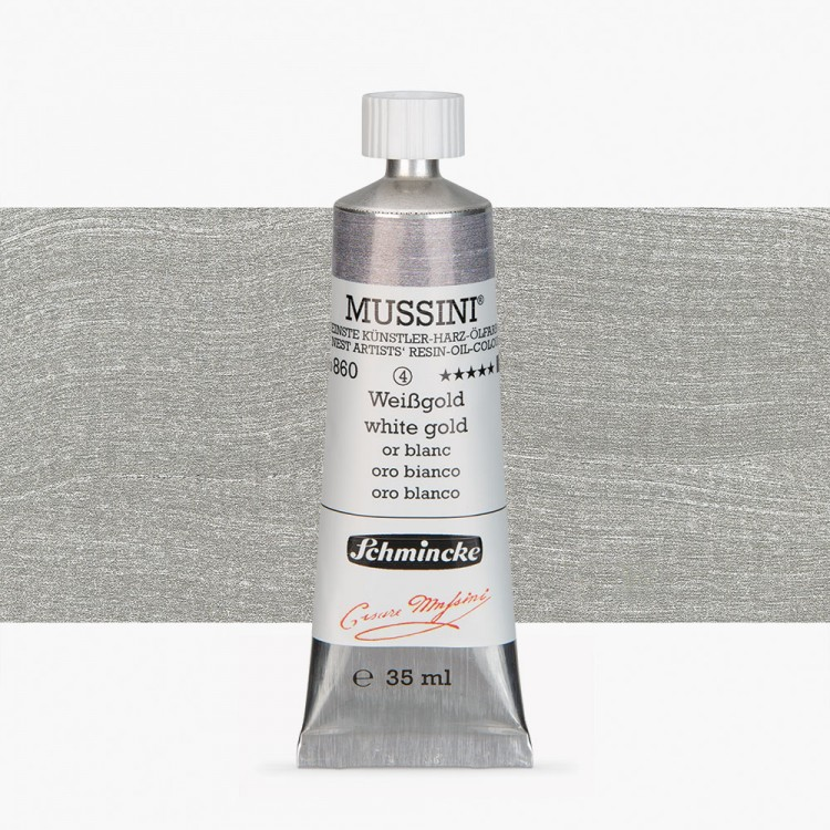 Schmincke : Mussini Oil Paint : 35ml : Silver