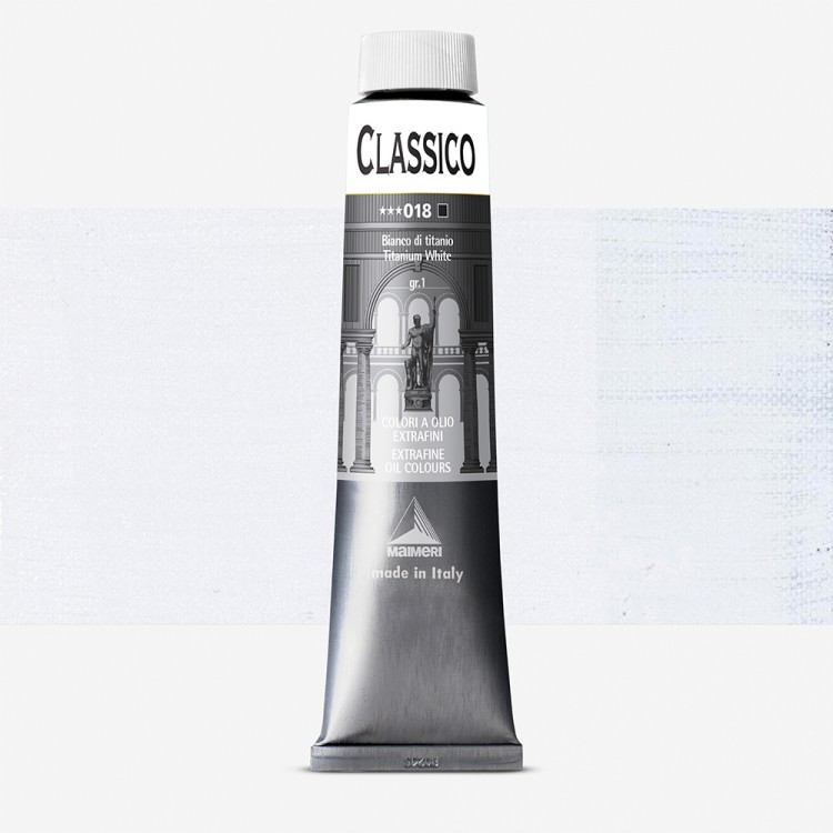 Maimeri : Classico Fine Oil Paint : 200ml : Titanium White