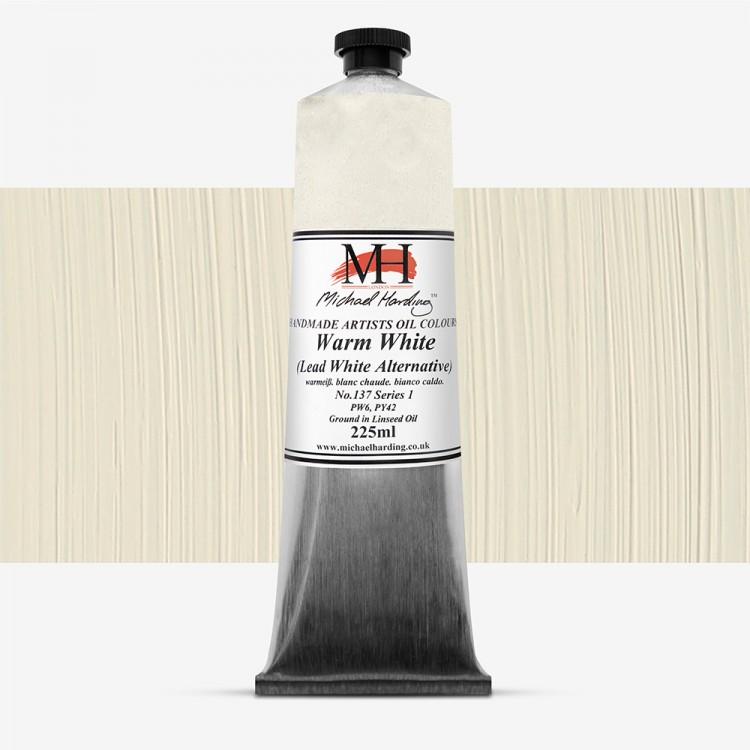 Michael Harding : Oil Paint : 225ml : Warm White (Lead White Alternative)