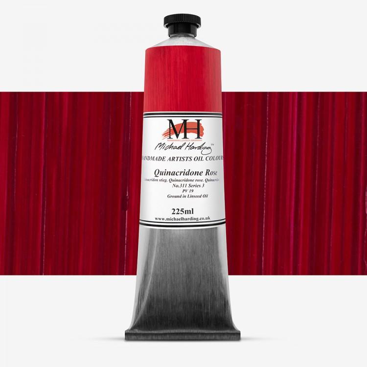 Michael Harding : Oil Paint : 225ml : Quinacridone Rose Organic