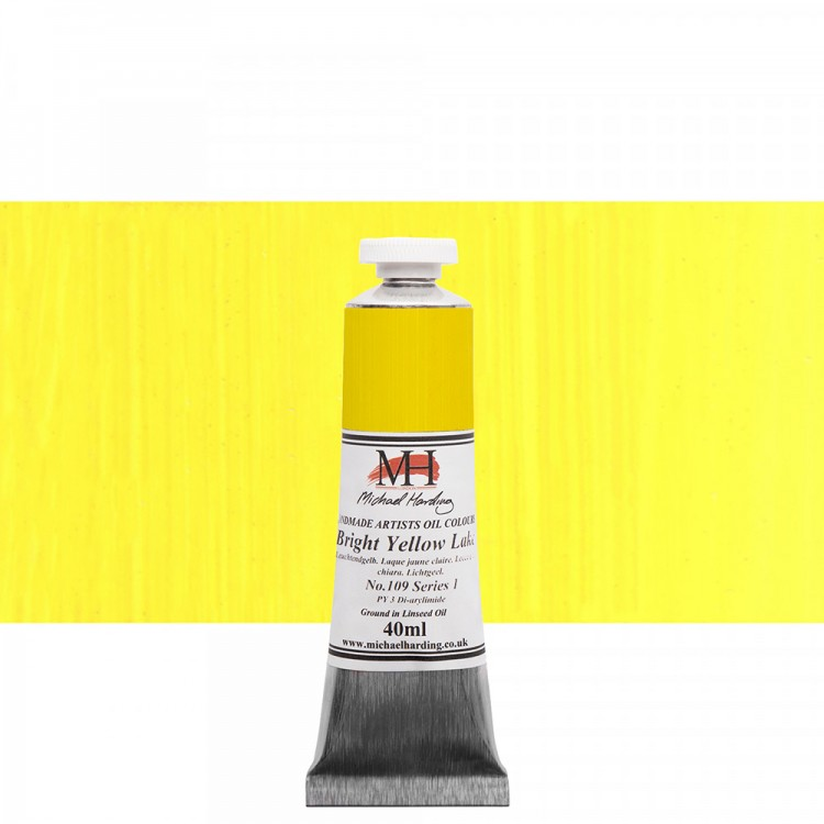 Michael Harding : Oil Paint : 40ml : Bright Yellow Lake