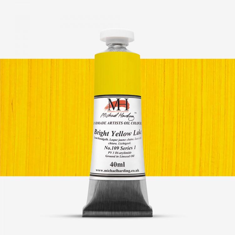 Michael Harding : Oil Paint : 40ml : Bright Yellow Lake