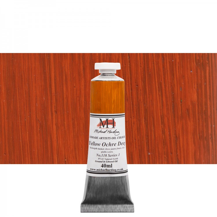 Michael Harding : Oil Paint : 40ml : Yellow Ochre Deep