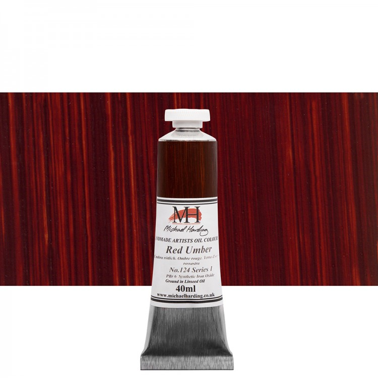 Michael Harding : Oil Paint : 40ml : Red Umber