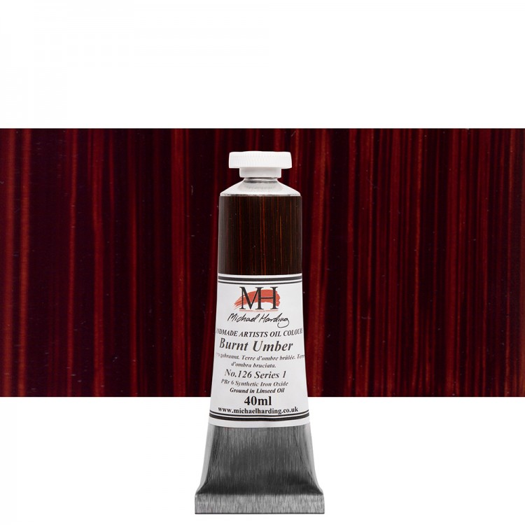 Michael Harding : Oil Colour : 40ml Burnt Umber