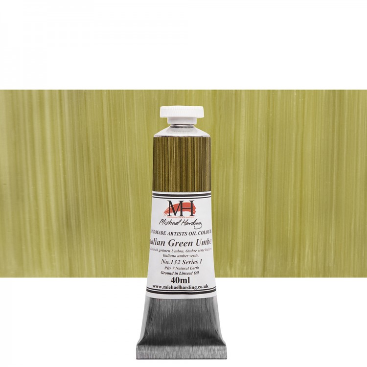 Michael Harding : Oil Paint : 40ml : Italian Green Umber