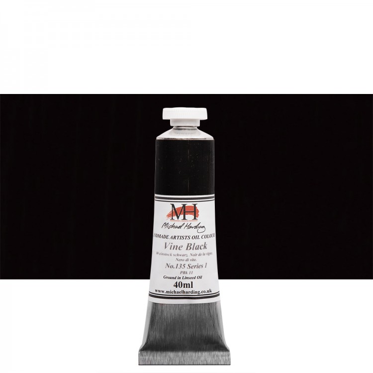 Michael Harding : Oil Paint : 40ml : Vine Black