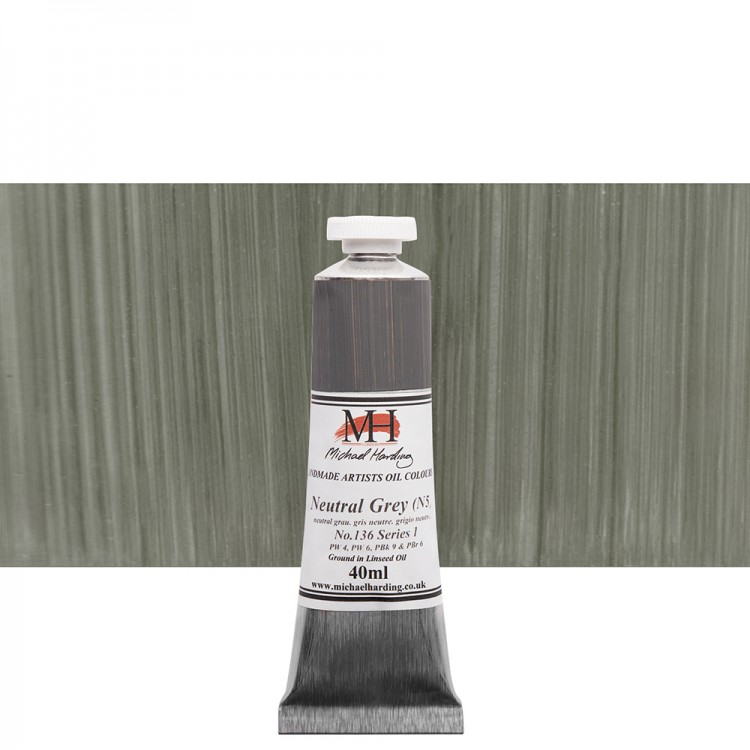 Michael Harding : Oil Paint : 40ml : Neutral Grey