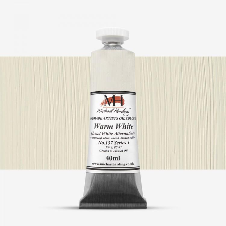 Michael Harding : Oil Paint : 40ml : Warm White (Lead White Alternative)