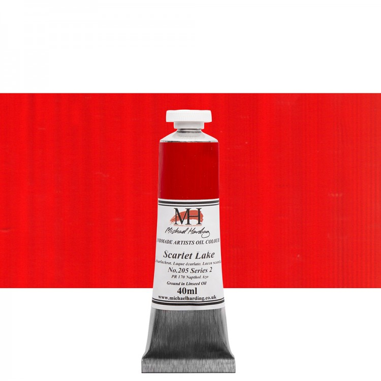 Michael Harding : Oil Paint : 40ml : Scarlet Lake