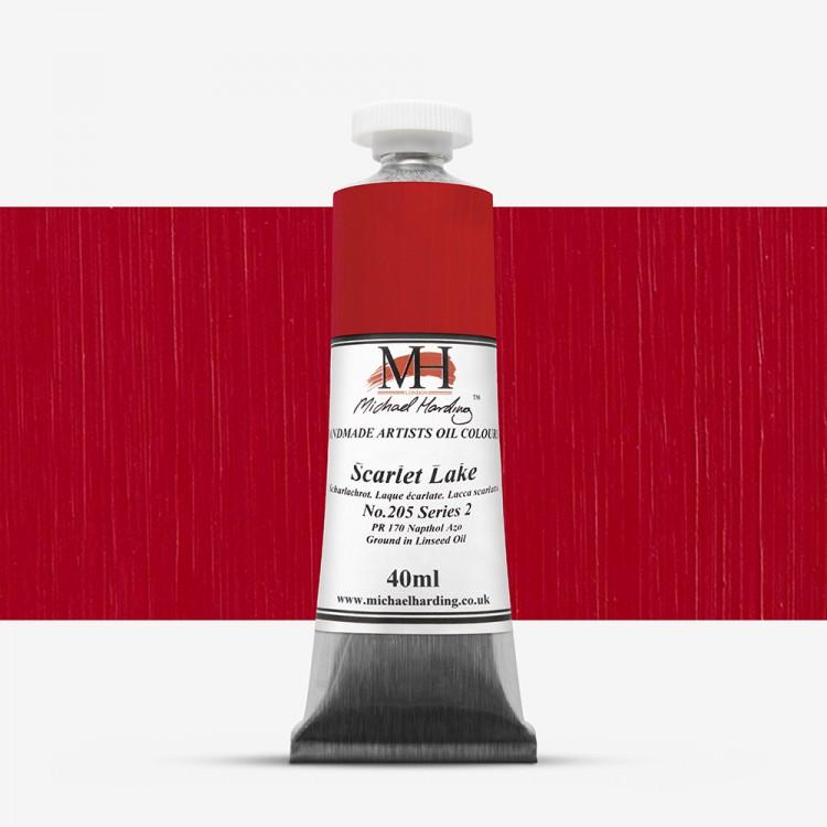 Michael Harding : Oil Paint : 40ml : Scarlet Lake