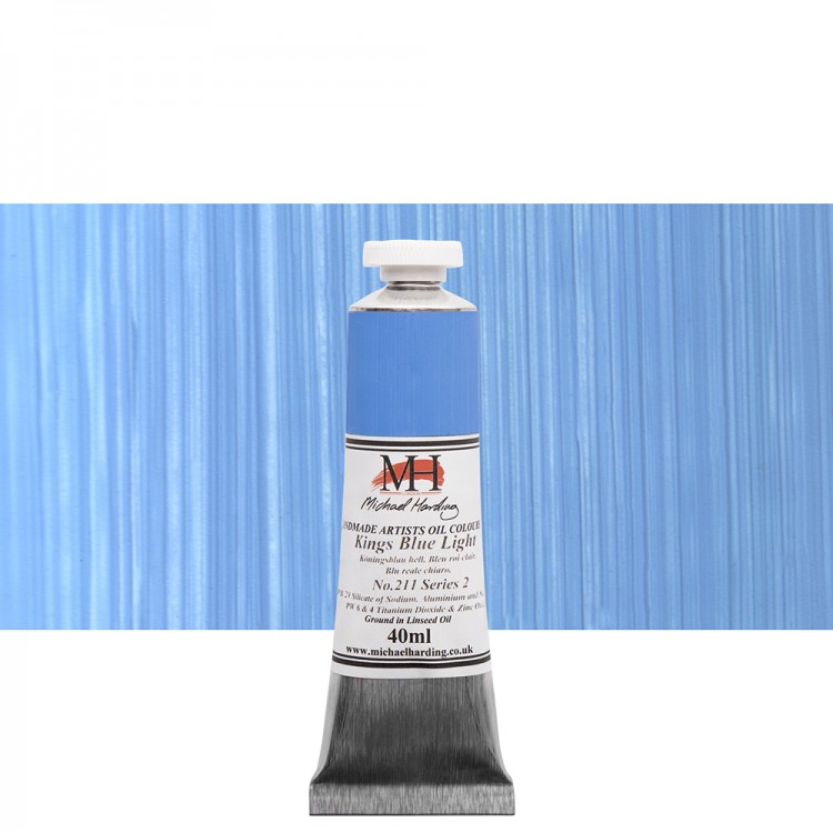 Michael Harding : Oil Paint : 40ml : Kings Blue Light