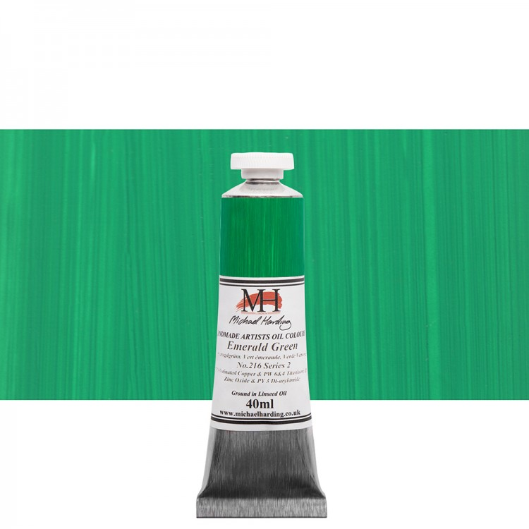 Michael Harding : Oil Paint : 40ml : Emerald Green