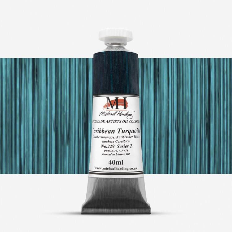 Michael Harding : Oil Paint : 40ml : Caribbean Turquoise
