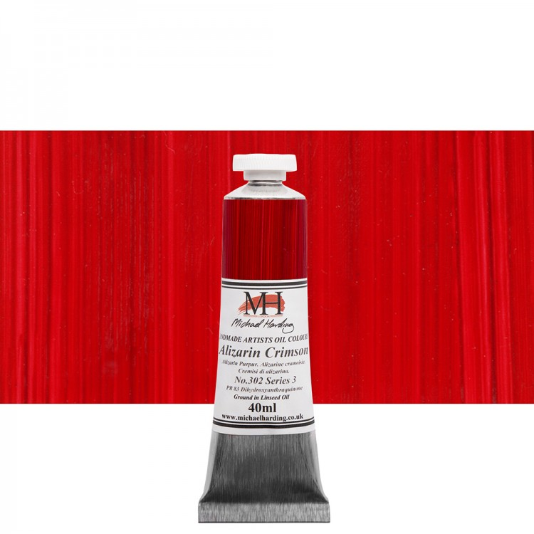 Michael Harding : Oil Paint : 40ml : Alizarin Crimson