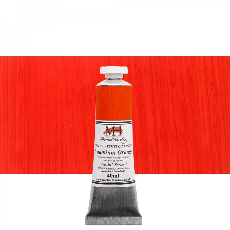 Michael Harding : Oil Paint : 40ml : Cadmium Orange