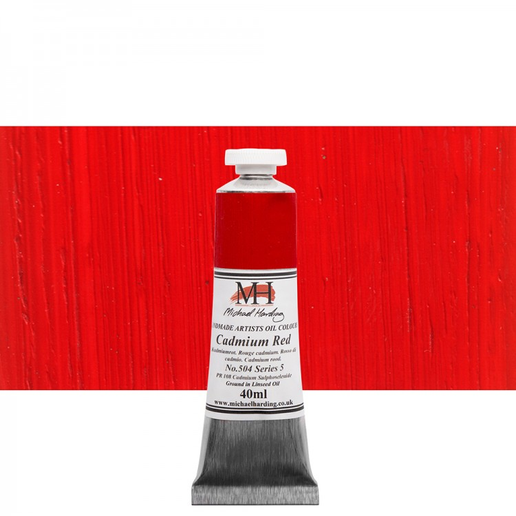 Michael Harding : Oil Colour : 40ml Cadmium Red