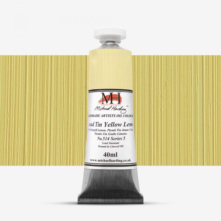 Michael Harding : Oil Paint : 40ml : Lead Tin Yellow Lemon