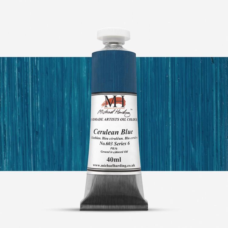Michael Harding : Oil Paint : 40ml : Cerulean Blue