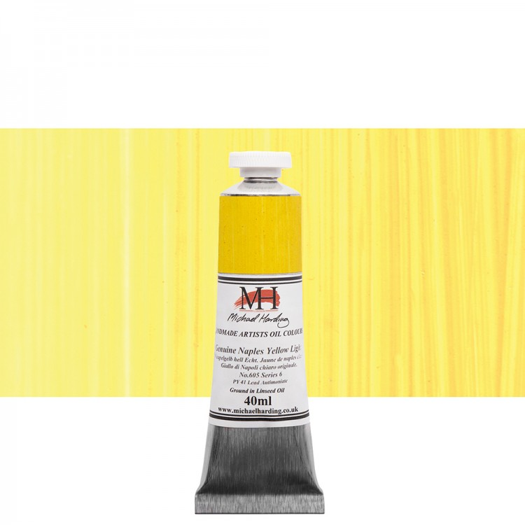 Michael Harding : Oil Paint : 40ml : Genuine Naples Yellow Light S6