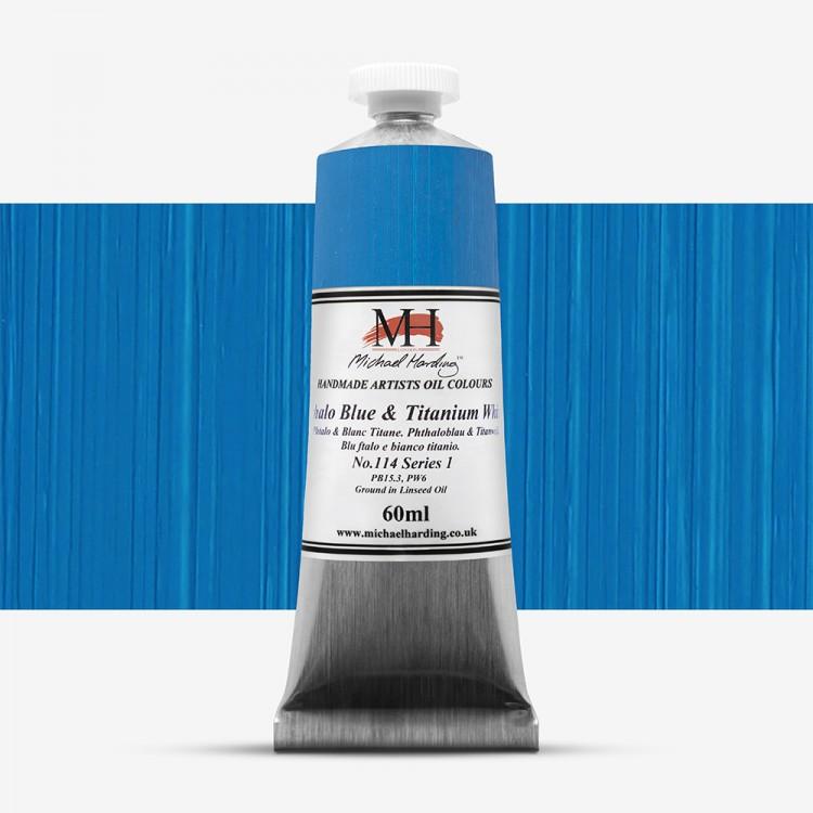 Michael Harding : Oil Paint : 60ml : Phthalo Blue & Zinc