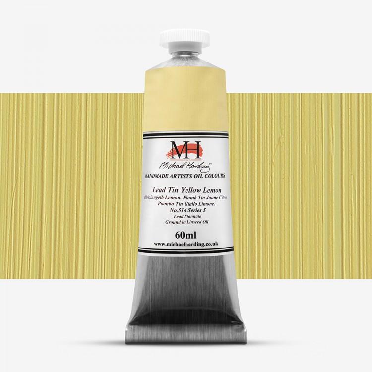 Michael Harding : Oil Paint : 60ml : Lead Tin Yellow Lemon