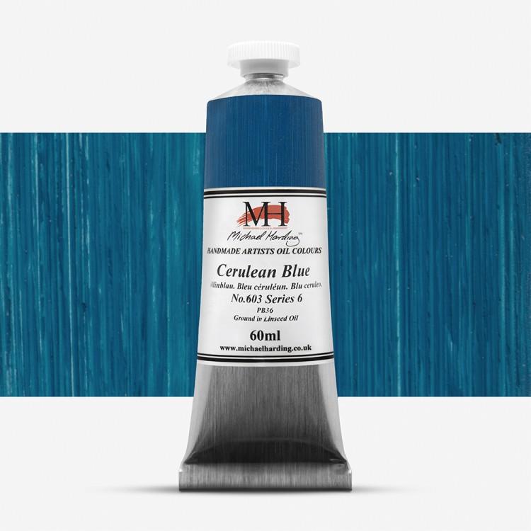 Michael Harding : Oil Paint : 60ml : Cerulean Blue