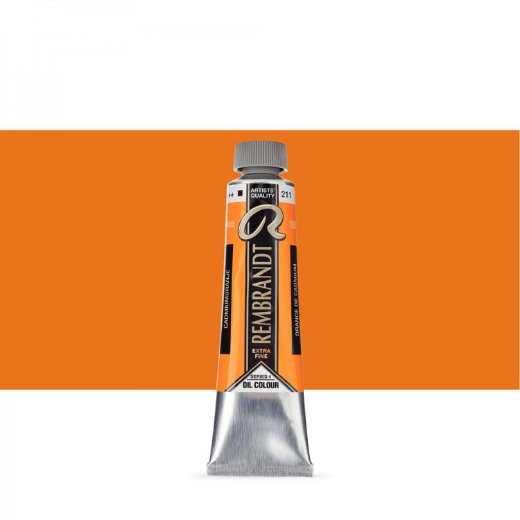 Talens : Rembrandt Oil Paint : 40 ml Tube : Cadmium Orange