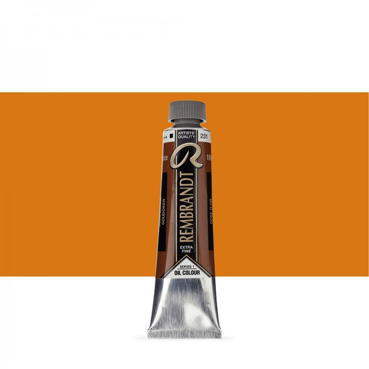 Talens : Rembrandt Oil Paint : 40 ml Tube : Gold Ochre