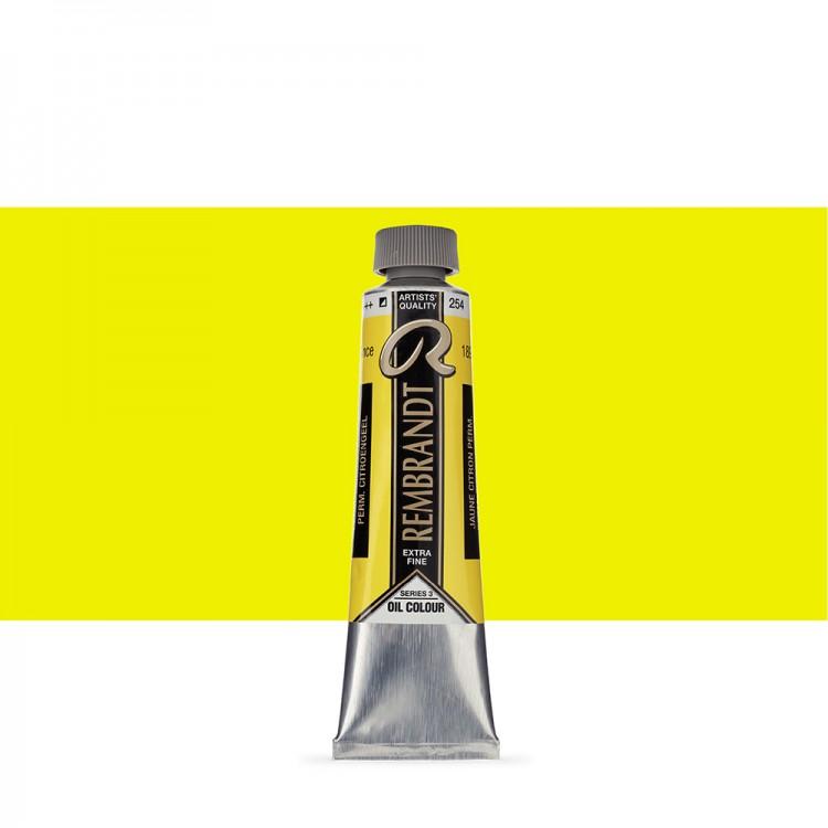 Talens : Rembrandt Oil Paint : 40 ml Tube : Permanent Lemon Yellow
