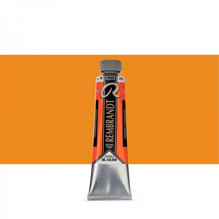 Talens : Rembrandt Oil Paint : 40 ml Tube : Permanent Orange