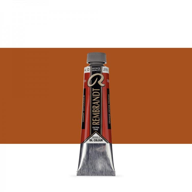 Talens : Rembrandt Oil Paint : 40 ml Tube : Transparent Oxide Orange