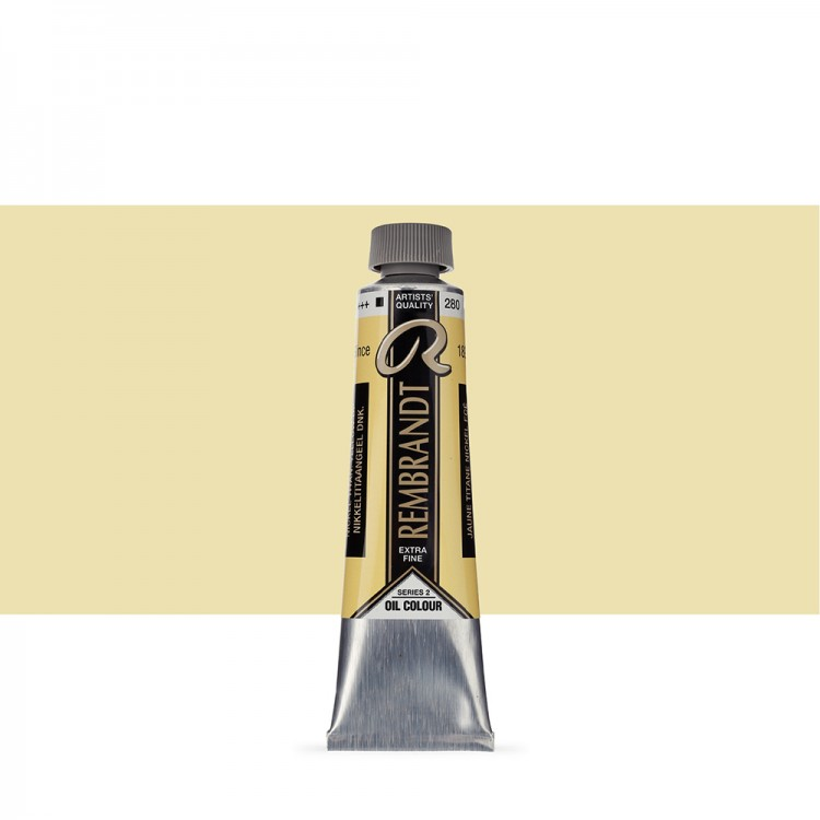 Talens : Rembrandt Oil Paint : 40 ml : Nickel Titanium Yellow Deep