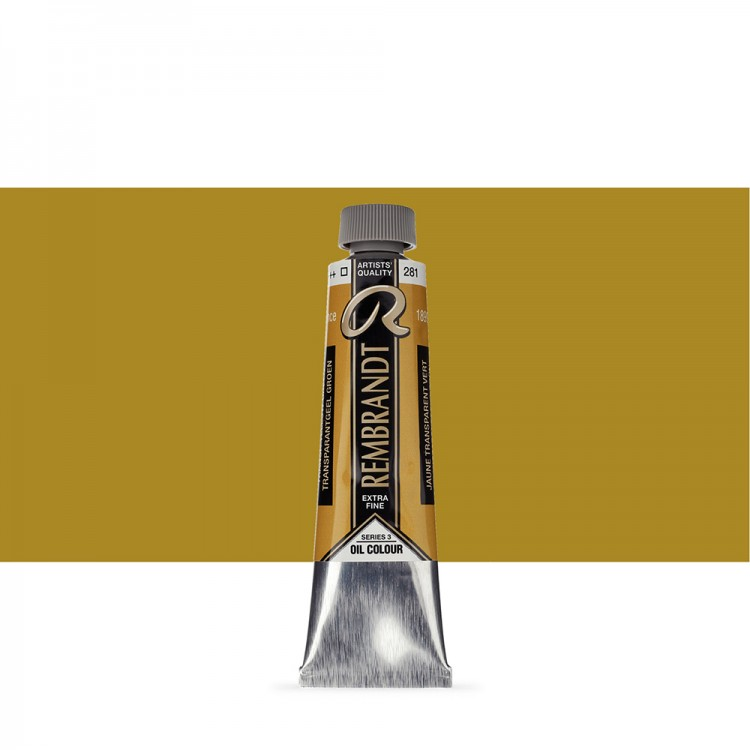 Talens : Rembrandt Oil Paint : 40 ml : Transparent Yellow Green